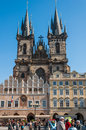 Church of our lady before tyn prague czech republic oct people at the square in front in prague czech republic on october Royalty Free Stock Photography