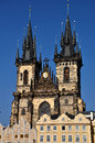 Church of our lady before tyn prague on the square in czech republic Stock Images