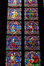Church Painted Windows Stock Photography