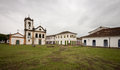 Church paraty at on overcast day brazil Stock Photography
