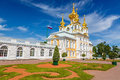 Church in peterhof st petersburg of saints peter and paul russia Royalty Free Stock Image