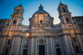 Church at piazza navona the in rome italy Royalty Free Stock Photos