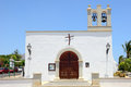 Church in playa blanca beautiful little catholic lanzarote spain Royalty Free Stock Image