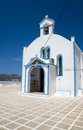 Church Pollonia Milos Cyclades  Greek island Royalty Free Stock Photo