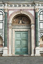 Church portal old in florence italy Stock Photography