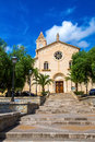 Church in porto cristo tower of the parroquia nuestra señora del carmen mallorca balearic islands spain Stock Photos