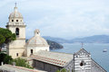 Church of portovenere ancient harbour in italy Royalty Free Stock Photos