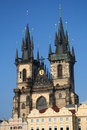Church in Prague town square Royalty Free Stock Images