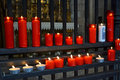Church prayer candles Royalty Free Stock Photo