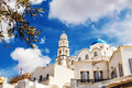 Church in Pyrgos, Santorini, Greece Royalty Free Stock Photo