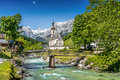 Church of Ramsau, Berchtesgadener Land, Bavaria, Germany Royalty Free Stock Photo