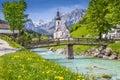 Church of Ramsau, Nationalpark Berchtesgadener Land, Bavaria, Germany Royalty Free Stock Photo
