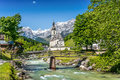 Church of Ramsau, Nationalpark Berchtesgadener Land, Bavaria, Germany Royalty Free Stock Photo