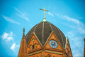 Church red brick heilig kreuz kirche in berlin Royalty Free Stock Photo