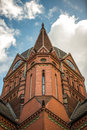 Church red brick heilig kreuz kirche in berlin Royalty Free Stock Photos