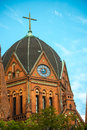 Church red brick heilig kreuz kirche in berlin Royalty Free Stock Images