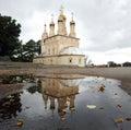 Church religion autumn mirror reflection Royalty Free Stock Photos