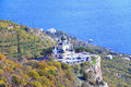 The church of the resurrection of christ on rock foros crimea Royalty Free Stock Photo