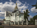 Church of the resurrection in sokolniki kedrovskaya built russia moscow Stock Photo