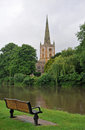 Church on the river avon Royalty Free Stock Image
