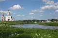 The church on the river bank in rural areas suzdal russia Stock Image