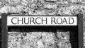 Church Road Street name plates