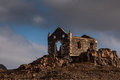 Church ruin forlorn of a standing on a hill Royalty Free Stock Image