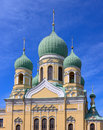 Church russian orthodox in st petersburg Stock Photos