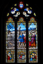Church s window a colorful in brittany france Royalty Free Stock Photos