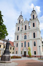 Church of saint catherine one of the many beautiful churches in lithuania vilnius august Stock Images