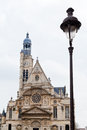 Church of saint etienne du mont in paris facade tower Stock Image