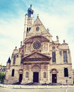 Church saint etienne du mont in paris france Royalty Free Stock Photography