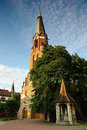 Church of Saint George in Sopot, Poland. Royalty Free Stock Photo