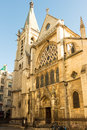The church of  Saint Severin, Paris, France. Royalty Free Stock Photo