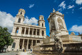 Church of Saint Sulpice in Paris Royalty Free Stock Photo