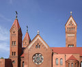 Church of saints simon and helen red church in minsk belarus Stock Image