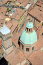 Church of san bartolomeo and gaetano view from above the in bologna italy Stock Image