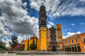 Church of san francisco templo de puebla mexico built quarry tile and brick the temple was completed in Stock Photography