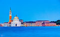 Church of san giorgio maggiore in venice italy the is a th century benedictine built classical renaissance style designed by Royalty Free Stock Photo