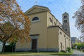 Church of san giorio to and romanesque bell tower italy Stock Images