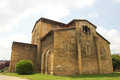 Church of san julian de los prados the in oviedo is a pre romanesque built at first ix century Royalty Free Stock Photo