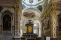 Church san rocco lugano was constructed in this is s most ornate churches redecorated in in a baroque style Royalty Free Stock Photo