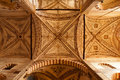 Church of sant anastasia verona the ceiling the in northern italy Royalty Free Stock Photography