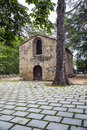 Church of sant mart� de pertegas xii century in sant celoni barcelona spain Royalty Free Stock Photography