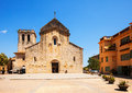 Church of sant pere besalu catalonia was consecrated in Royalty Free Stock Photos