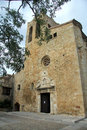 Church of sant pere de pals girona spain view the Royalty Free Stock Photography