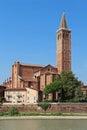 Church of Santa Anastasia - Verona Italy. Royalty Free Stock Photo