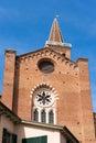Church of Santa Anastasia - Verona Italy Royalty Free Stock Photo