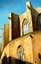 Church santa maria del mar in barcelona painting illustration Stock Image