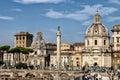Church of santa maria di loreto and the church of the most holy rome italy october roman catholic name mary name Stock Photo